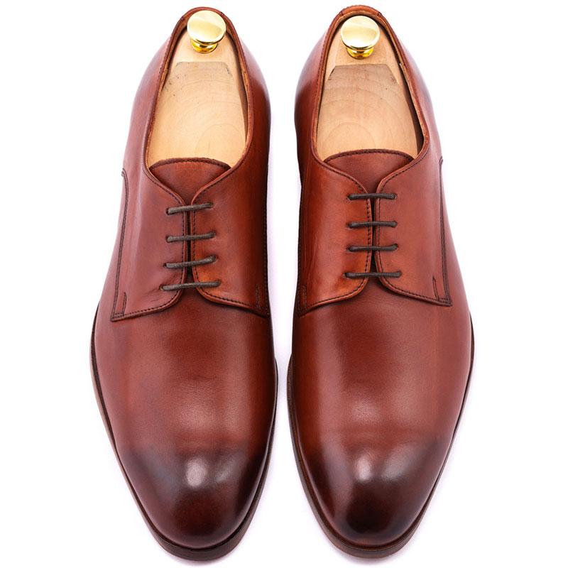 Pantofi barbat la comanda maro | Anghel Constantin Tailoring