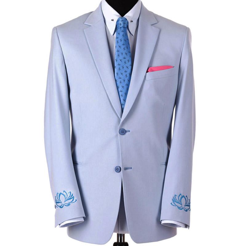 Sacou bespoke cu broderie custom | Anghel Constantin Tailoring