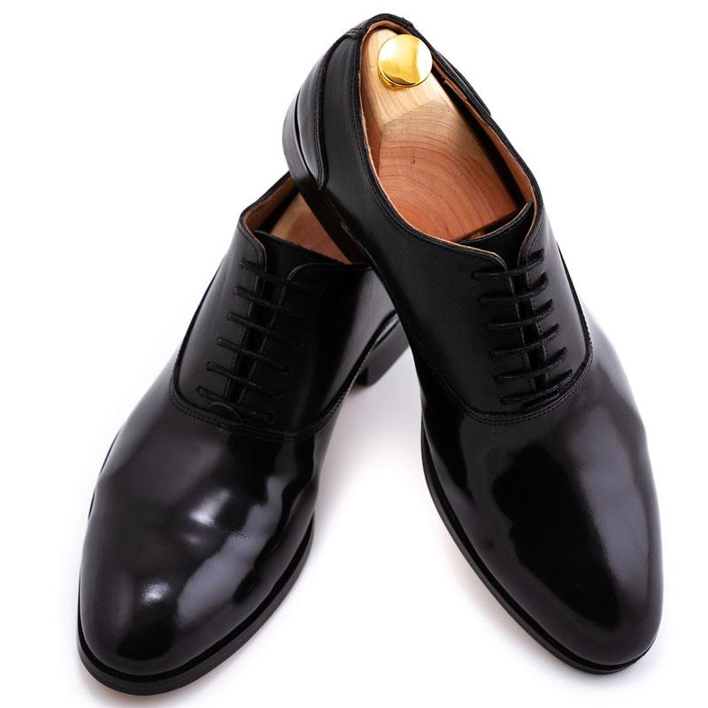 Pantofi mire din piele lacuita | Anghel Constantin Tailoring