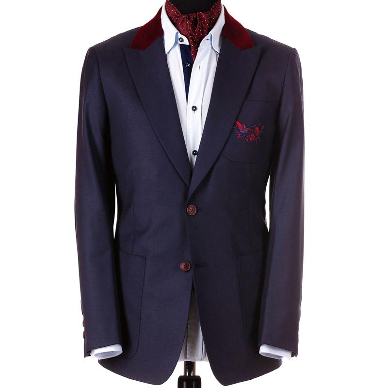 Sacou la comanda cu broderie personalizata | Anghel Constantin Tailoring