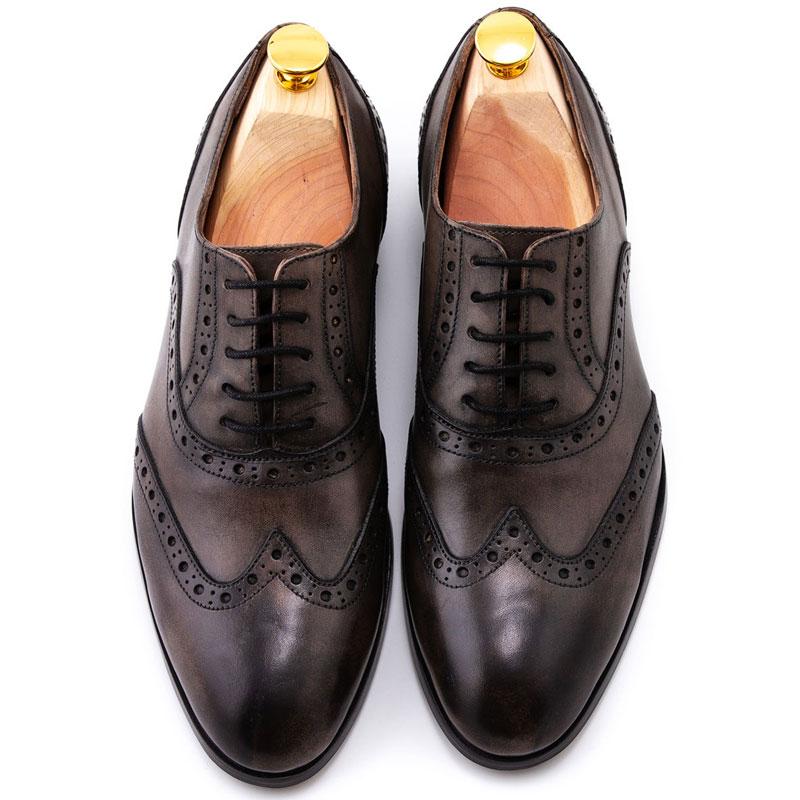 Pantofi patina gri made-to-order | Anghel Constantin Tailoring
