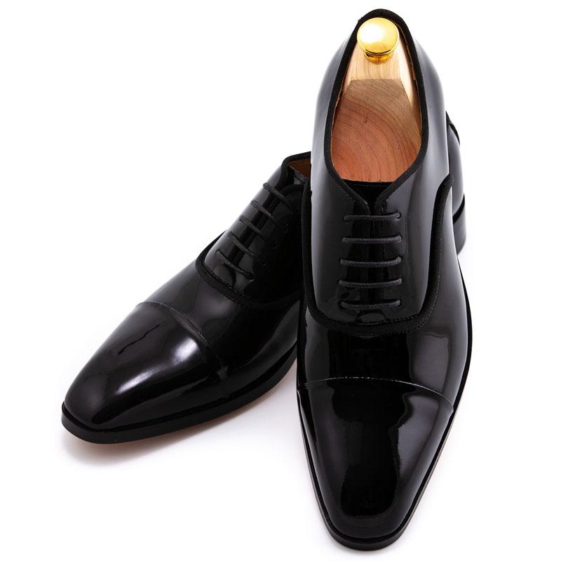 Pantofi negri din lac la comanda | Anghel Constantin Tailoring