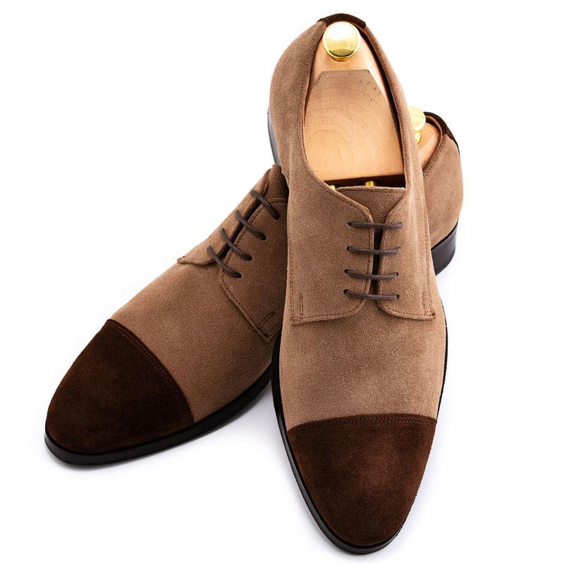 Pantofi costum barbat piele intoarsa | Anghel Constantin Tailoring