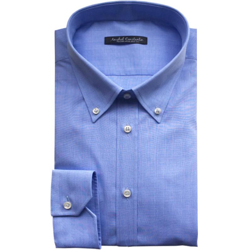 Camasa bleu din bumbac | Anghel Constantin Tailoring