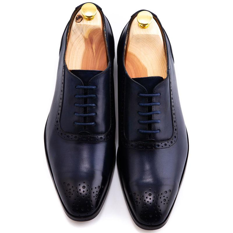 Pantofi la comanda bleumarin navy | Anghel Constantin Tailoring