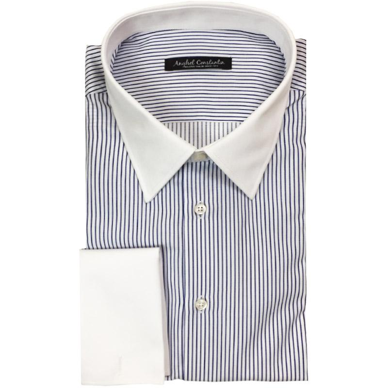 Camasa business cu dungi albastre | Anghel Constantin Tailoring