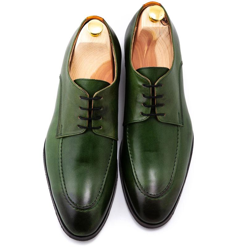 Pantofi made-to-measure patina verzi | Anghel Constantin Tailoring