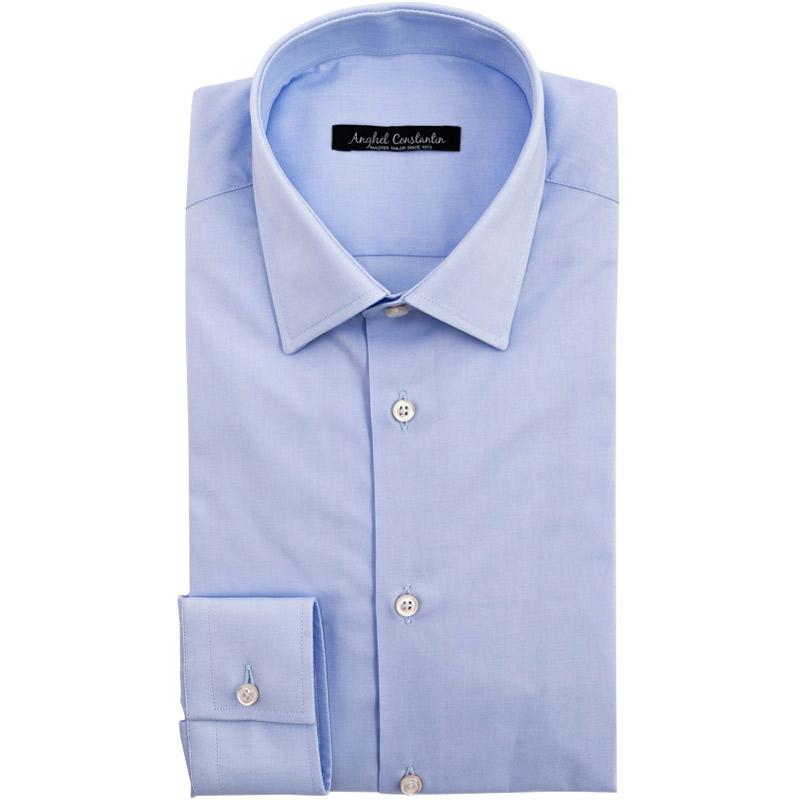 Camasa bleu manseta buroni | Anghel Constantin Tailoring