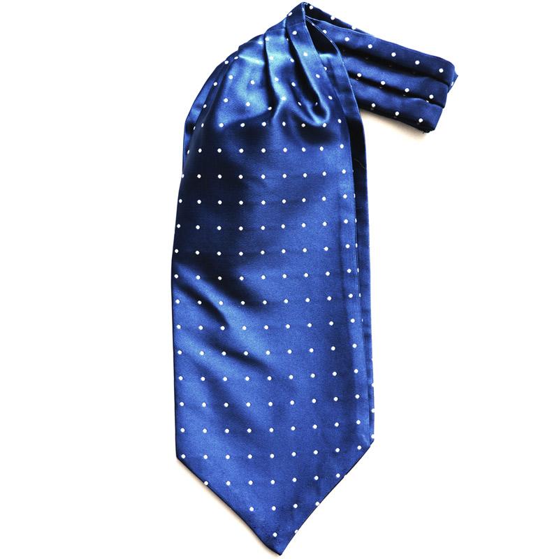 Cravata Ascot bleumarin | Anghel Constantin Tailoring
