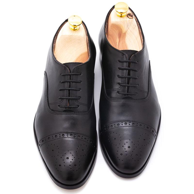 Pantofi business negri din piele | Anghel Constantin Tailoring